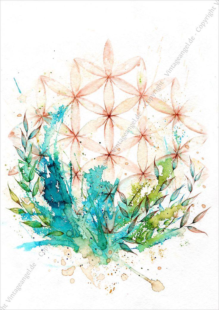 Blume des Lebens, Symbolbild, Ink Art, Symbol