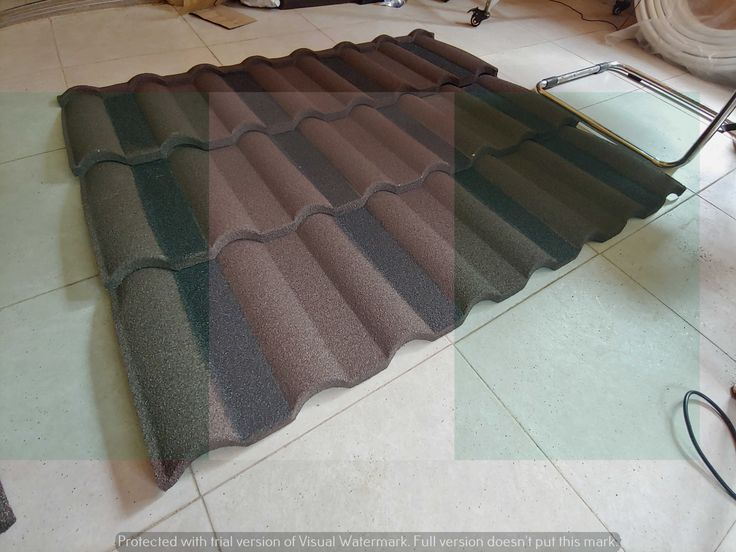 Brown & black milano new zealand stone coated roof nosen