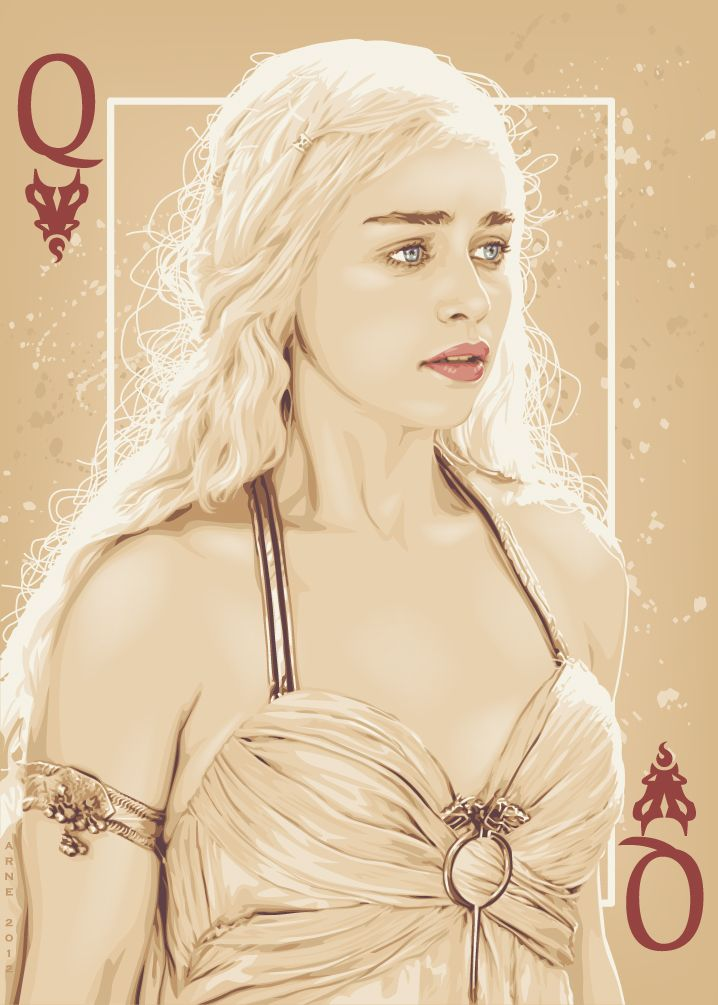 Khaleesi-  Game of Thrones Playing Cards posters (2012-2014) by ratscape