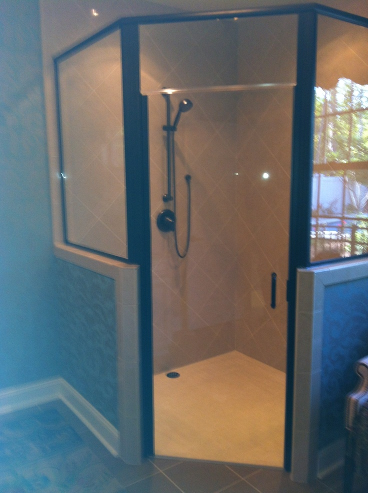 Large Stand up Shower in new model home. Luxurious