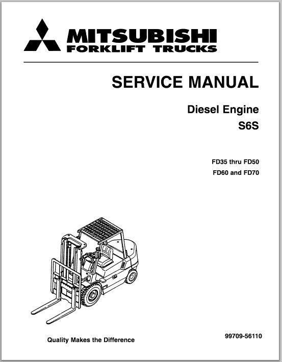 Mitsubishi Diesel Engine S6s Service Manual Fd35 Thru Fd50