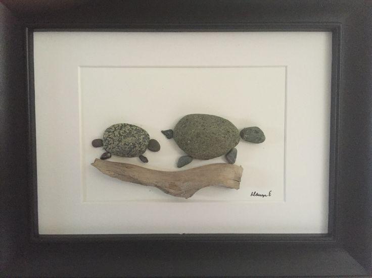 NO STONE UNTURNED Pebble Art by Dawn Turtles
