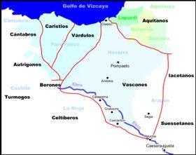 """Territoire des Vascons,sous l' Empire romain.- CLOVIS 1°. 3) BIOGRAPHIE. 3.6.3: LE CONCILE D'ORLEANS, 2: les évêques de VASCONIE sont absents à cause des troubles dans leur région mais également ceux de Belgique et de Germanie du fait du manque de pénétration de l'église catholique romaine dans ces régions. Clovis est désigné """"Rex Gloriosissimus fils de l'Eglise catholique"""" par tous les évêques présents."""