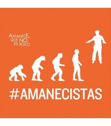 "Camiseta Amanecistas Chica Naranja ""Amanece, que no es poco"""