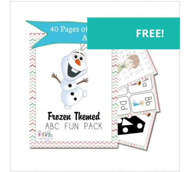 free frozen themed worksheets