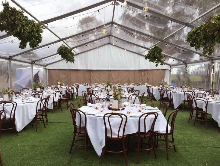 M&C Wedding #clearroofmarquee #bentwoodchairs #marqueewedding #gardenparty