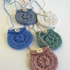 Tiny Crochet Keepsake Necklaces