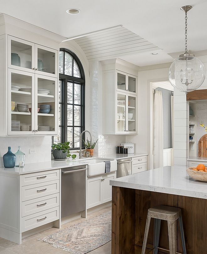 Benjamin Moore Oc 23 Classic Gray The Perimeter Cabinetry And Walk In Pantry Are Map Dining Room Renovation Transitional Kitchen Design Interior Design Kitchen