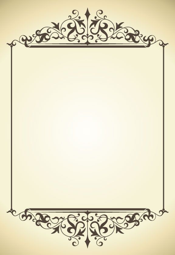 Vintage frame vector-5 | Borders and Font | Pinterest ...