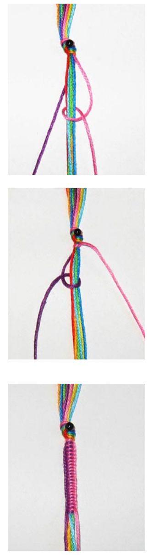 MACRAME Tejido redondo tipo rasta bracelet idea