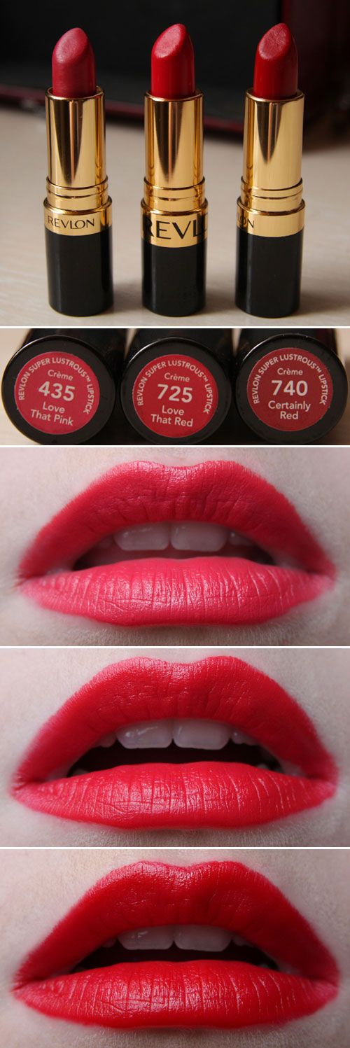 WANT IT :: Revlon Super Lustrous Lipstick REDS :: Love That Pink (very slightly reddish pink shade, perfect for spring/summer), Love That Red (true red, w/ what might be just a slight hint of pink) & Certainly Red (another true red, slightly darker than Love That Red, perfect for autumn and winter). | #itsabbeykarson