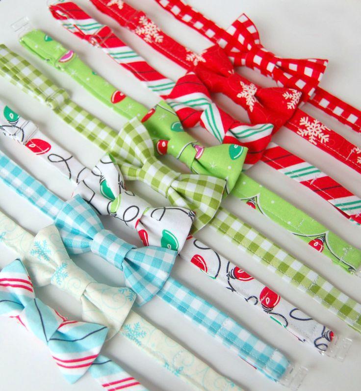 Christmas Bow Tie Baby Boy Retro Holiday Bow Tie Baby Christmas Bow Tie Toddler Christmas Tie Red Christmas, Green Christmas Pink Christmas by EvaandDell on Etsy