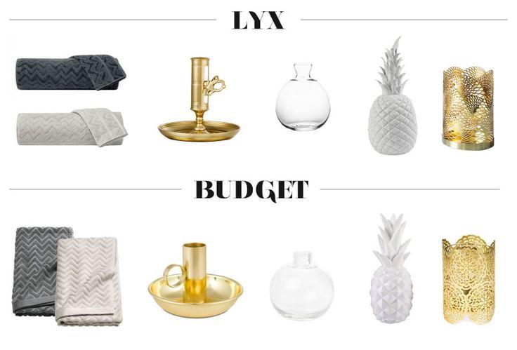 Inredning : Lyx vs. budget