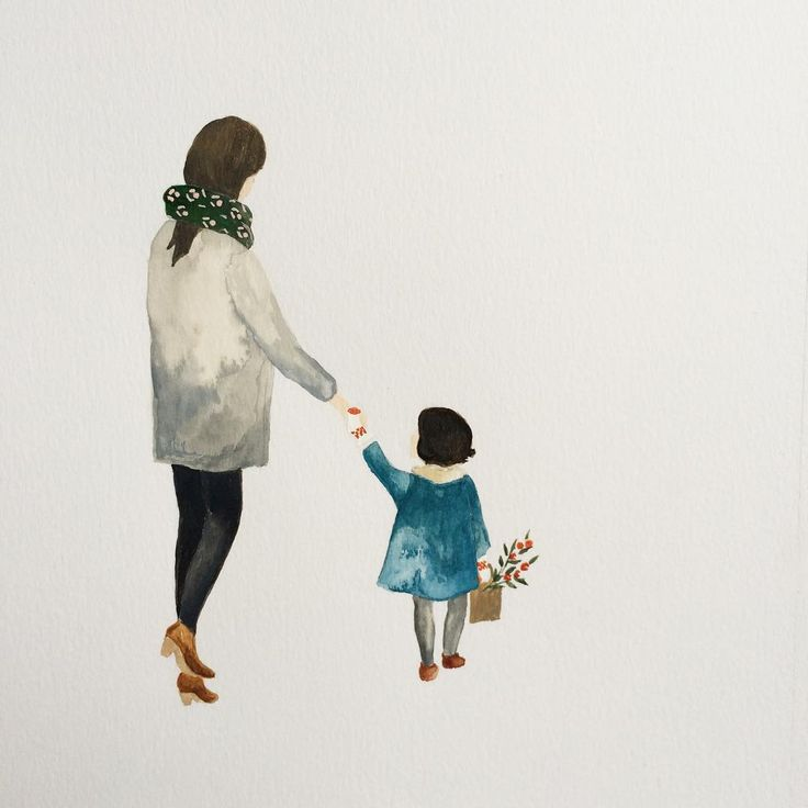 Mothers day art illustration watercolour painting print Regardez cette photo Instagram de @saarmanche • 2,052 mentions J'aime