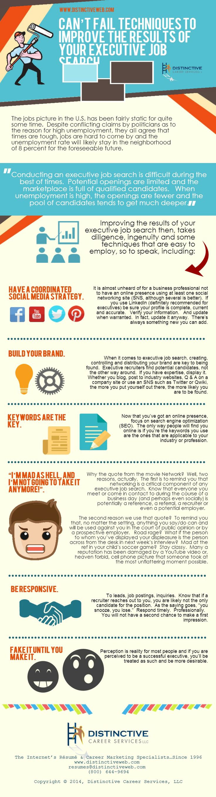 17 best images about career job search infographics an infographic can t fail techniques to improve the results of your executive · executive jobsearchjobsearch