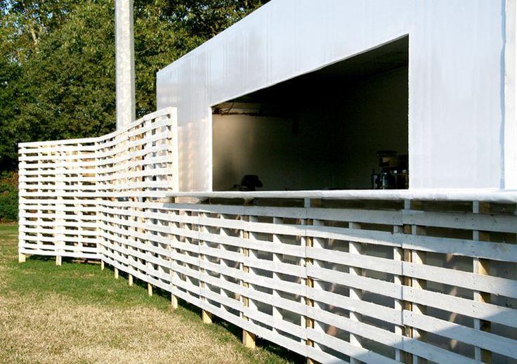 PADIGLIONE TEMPORANEO A NOCETO - progetto per una postazione bar e uno spazio espositivo - Noceto, Itália - 2013 - DRAFTARCH