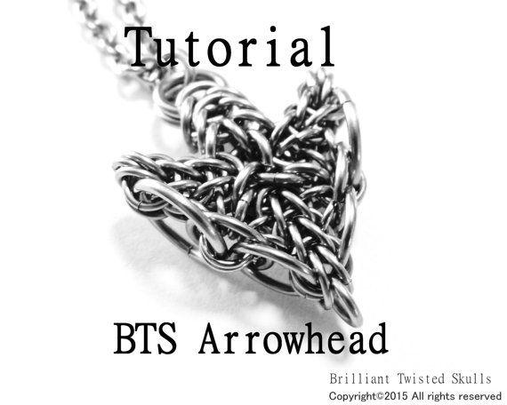 Tutorial for BTS Arrowhead Chain Maille Pendant