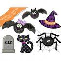 Halloween Applique Design Set 1