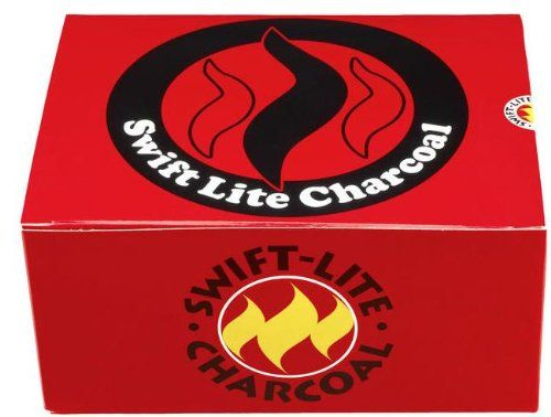 Swift Lite- Pack of 100 x 40 mm charcoal Tablets (for incense/Shisha burning)
