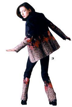 Модел на Евгения Живкова за Жени стил, пролет-лято 2001 г.