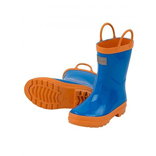 Hatley Boys' Royal Blue and Orange Rain Boots >>> Review more details @