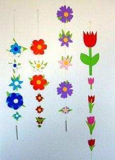 bastelsachen/basteln-Blumengirlanden