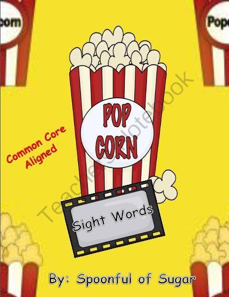 Popcorn sight Words (A Popcorn theme