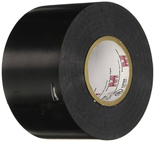 "Morris 60202 Black Commercial Grade Vinyl Electrical Tape, 8.5 mil, 66' Length, 2"" Width - Excellent Cold Weather Resistant Properties -1°F To 221°F (-18°C To 105°C). Flame Retardant and Weather Resistant. Highly Elastic Polymeric Backing - Excellent Elongation. High dielectric strength, high adhesion and shear. Resistant to acids, alkalis, chemicals, oils, moisture..."