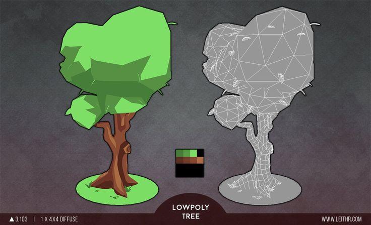 Environment Asset - Lowpoly Tree, Leith Raddatz on ArtStation at https://www.artstation.com/artwork/environment-asset-lowpoly-tree