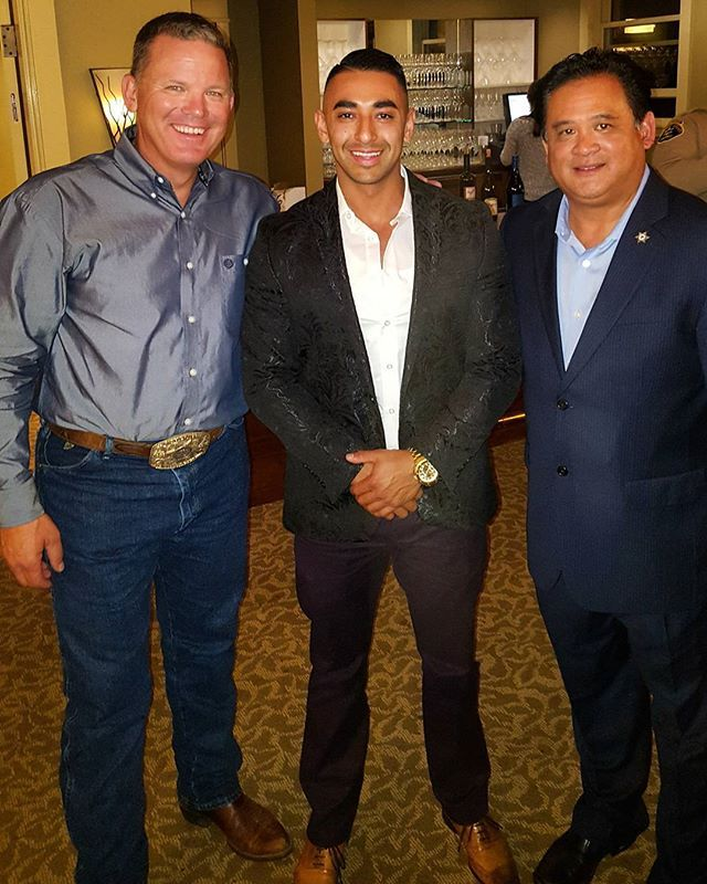 "TBT: Supporting & attending Monterey County Sheriff's Department Fundraiser & dinner. With Monterey ""County's Sheriff Bernal"" & Mr. Trang. Both are really stand up easy going Gentleman very kind. Sheriff Bernal even played some acoustic & performed for us during dinner.  It really opened my eyes on how important it is too support our very own Sheriffs department for the right cause our very own safety towards equipment & training. I meet the Sherrifs advisory council, Search & rescue team…"