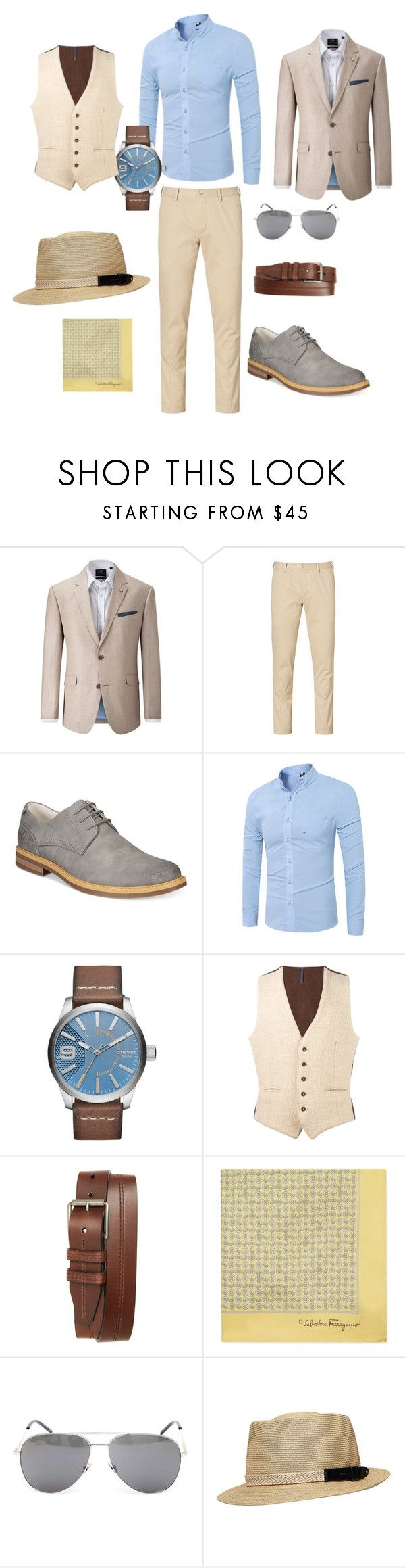 """наивный романтизм"" by lidyaschka on Polyvore featuring Skopes, Ralph Lauren, Kenneth Cole Reaction, Diesel, Montedoro, 1901, Salvatore Ferragamo, Yves Saint Laurent, men's fashion и menswear"