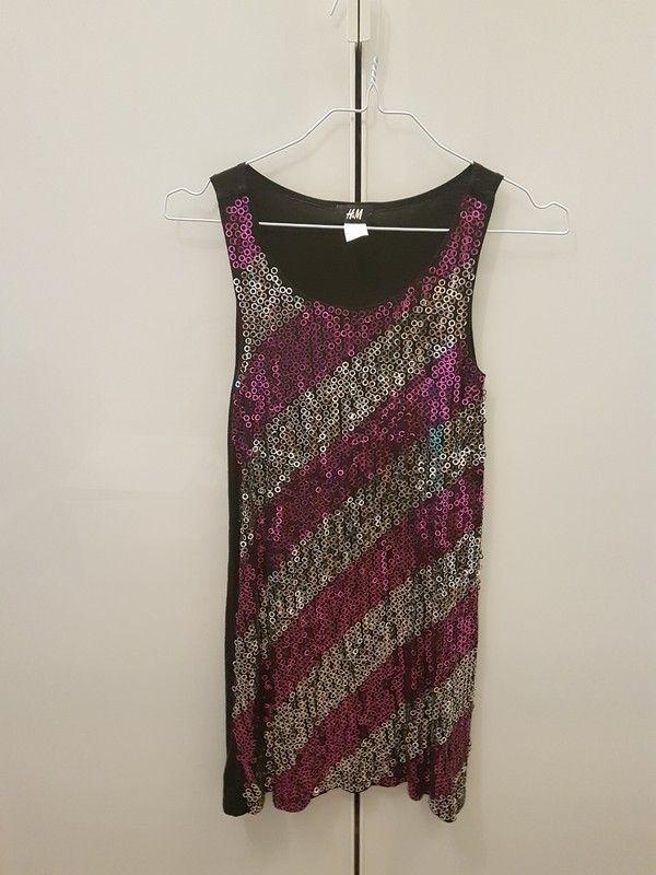 d82a67fa284 Pailletten Kleid Hängerchen