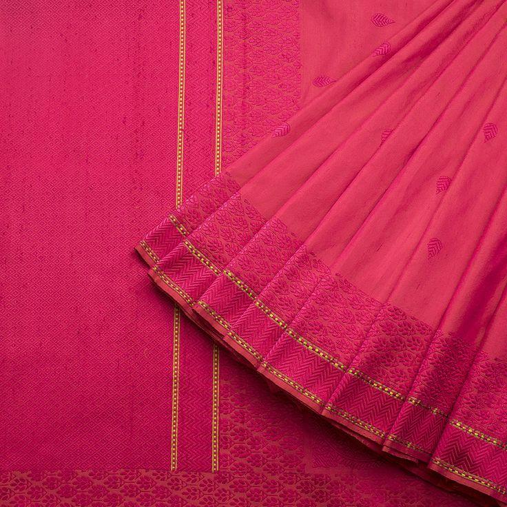 Taanbaan Handwoven Khadi Embroiderd Silk Sari 1012195 - Sari / All Saris - Parisera