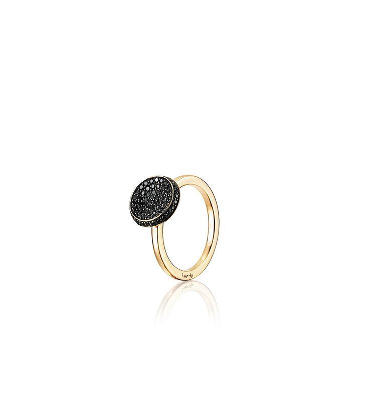 Love Bowl Ring - Black - Gold - Ring - Efva Attling