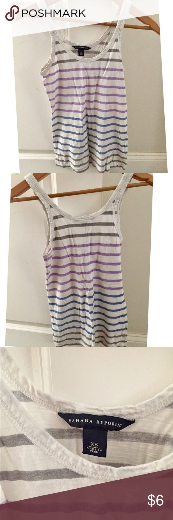 Banana Republic tank top Banana Republic women's striped tank top size XS Banana Republic Tops Tank Tops