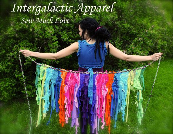 Pixie Skirt, TROPICAL STORM, Custom Interstellar Weave Skirt, Gypsy Skirt, FestiVaL Clothing, TatteRed Tutu