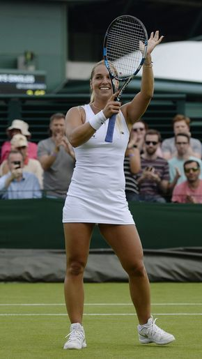 DOMINIKA CIBULKOVA at 1st Round at Wimbledon Tennis Championships in London 06/27/2016