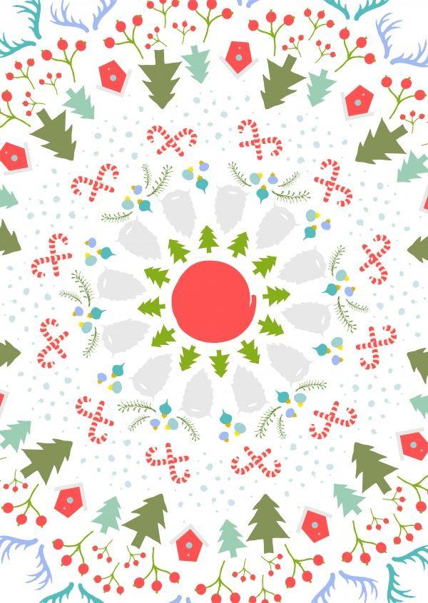 Weihnachtsmandala | Weihnachtskarten | Echte Postkarten online versenden | MyPostcard.com