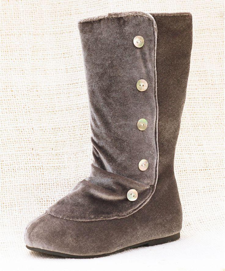 Charcoal Brynn Boot - Girls