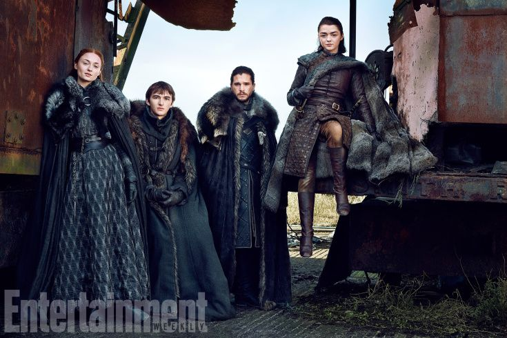 Okay, time to get serious. The Starks are not to be messed with. Next: Our cover photos...