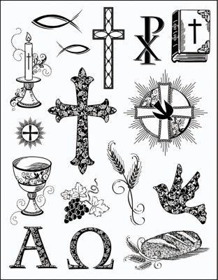 Silikonstempel Set Christliche Symbole 4 95 Christliche
