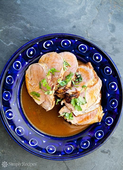 Chipotle Citrus Marinated Pork Tenderloin ~ Pork tenderloin, marinated in orange juice, lemon juice, garlic, shallots, and chipotle chiles, then oven roasted. ~ SimplyRecipes.com