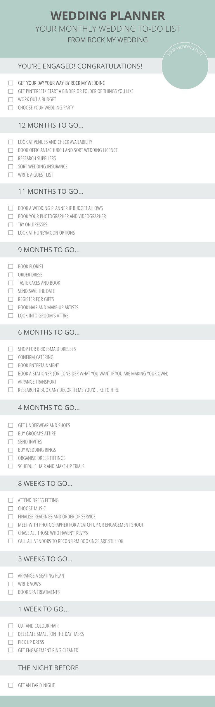 wedding 6 month checklist wedding checklist template 20 free excel
