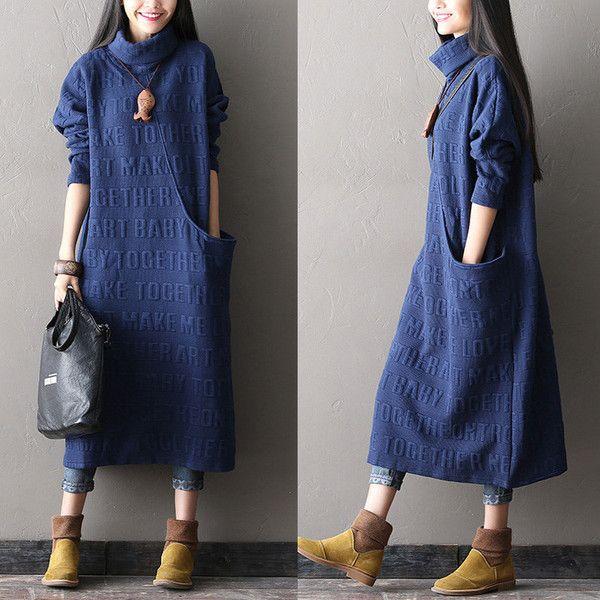 Coton d'impression longue robe - Tkdress - 1