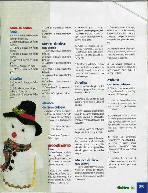Fieltro fácil todo para navidad año 1, VOL 2 - 25/49