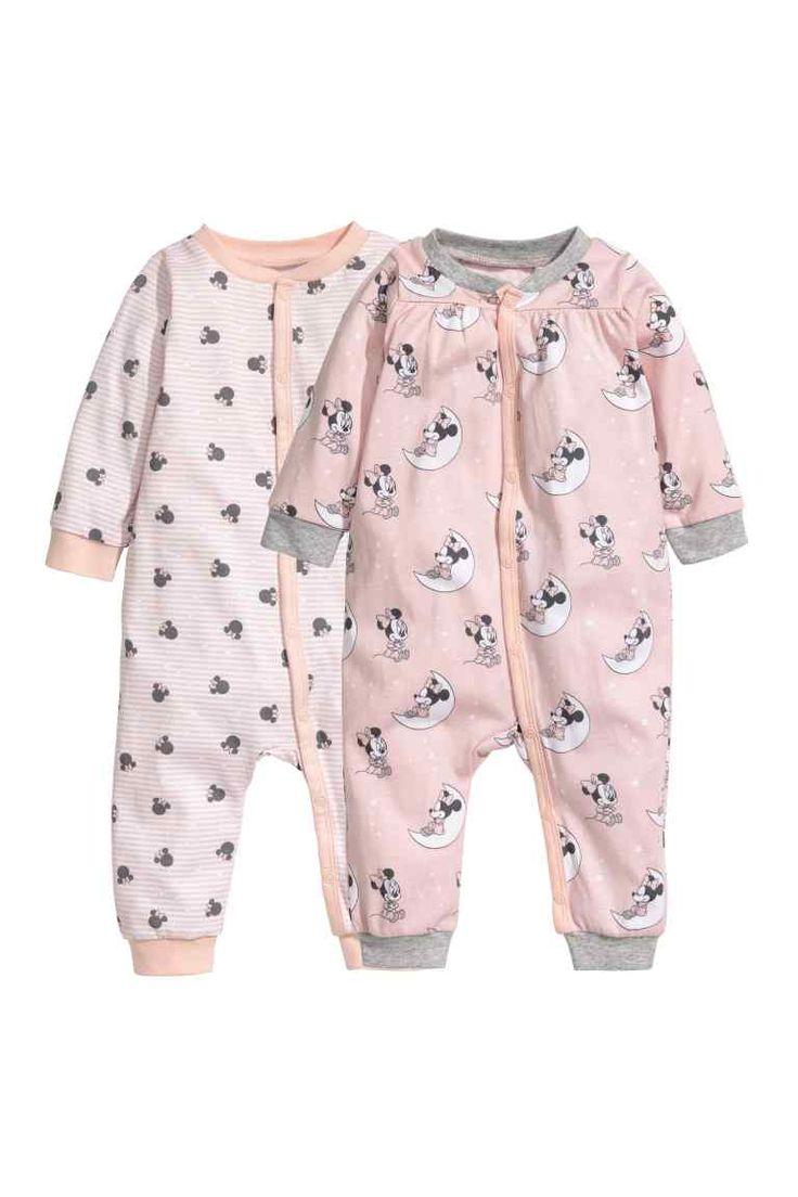 2 kpl pyjamia - Roosa/Minni Hiiri - Kids | H&M FI 1
