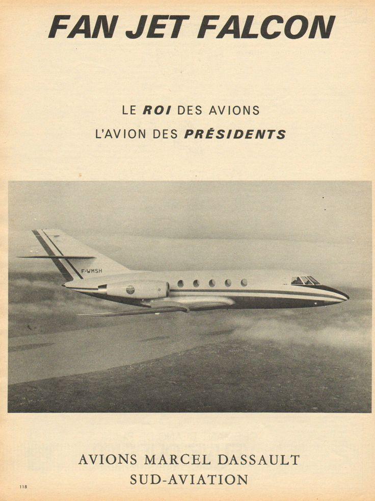 Publicité 1966 FAN JET Falcon Avions Marcel Dassault SUD Aviation   eBay