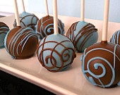 brown and ivory cake pops stick down so I can stand them up on a pumpkin.
