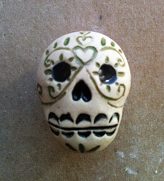 Día de los Muertos skull furniture knobs Day of by artcrafthome, $11.50
