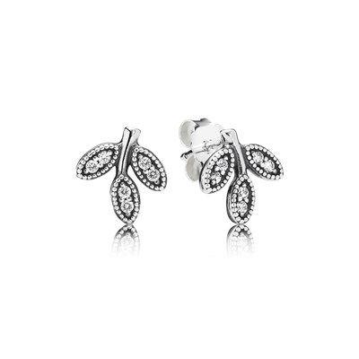Earrings Pandora Button 290736CZ Woman Silver Heart Zirconia mtirK